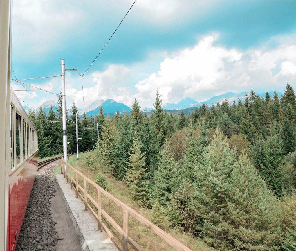 Interrail Itinerary photo of train on tracks