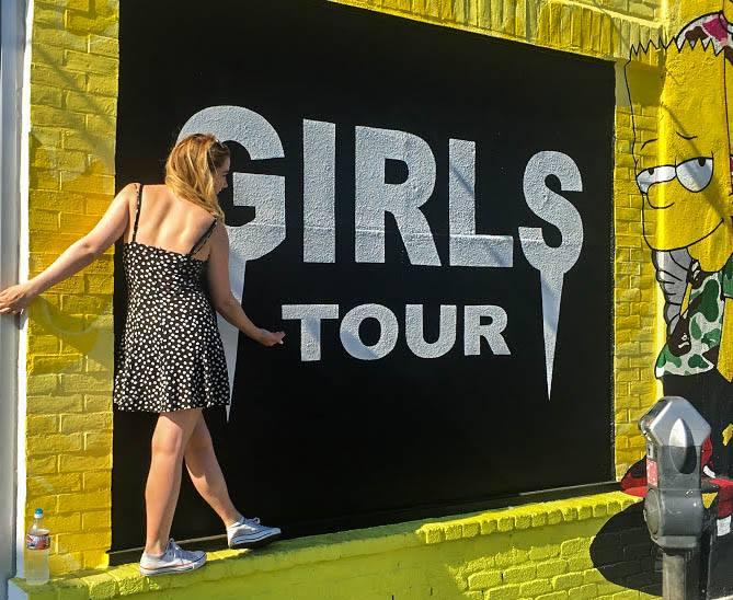Girls Tour Wall Melrose avenue walls