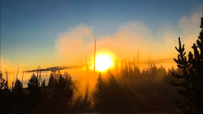 Sunrise, Yellowstone National Park, Wyoming