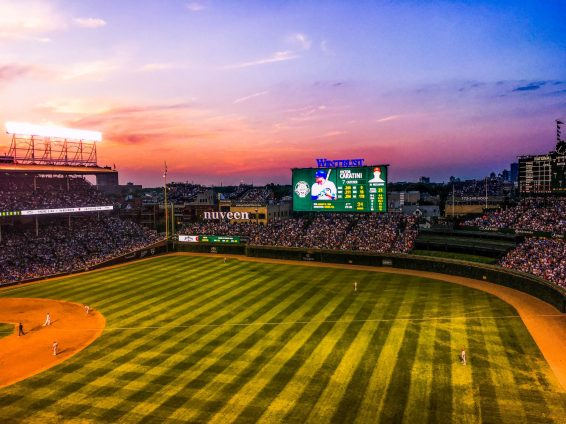 Cubs Game Sunset, Chicago, Illinois