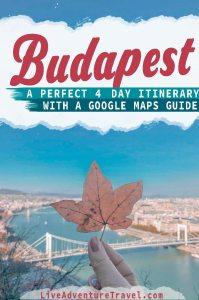 4 days in Budapest Pinterest Pin
