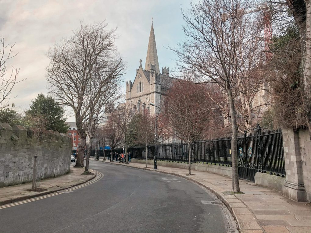 A Lane at the Back of Saint Patrick's Cathedral in Dublin, Ireland