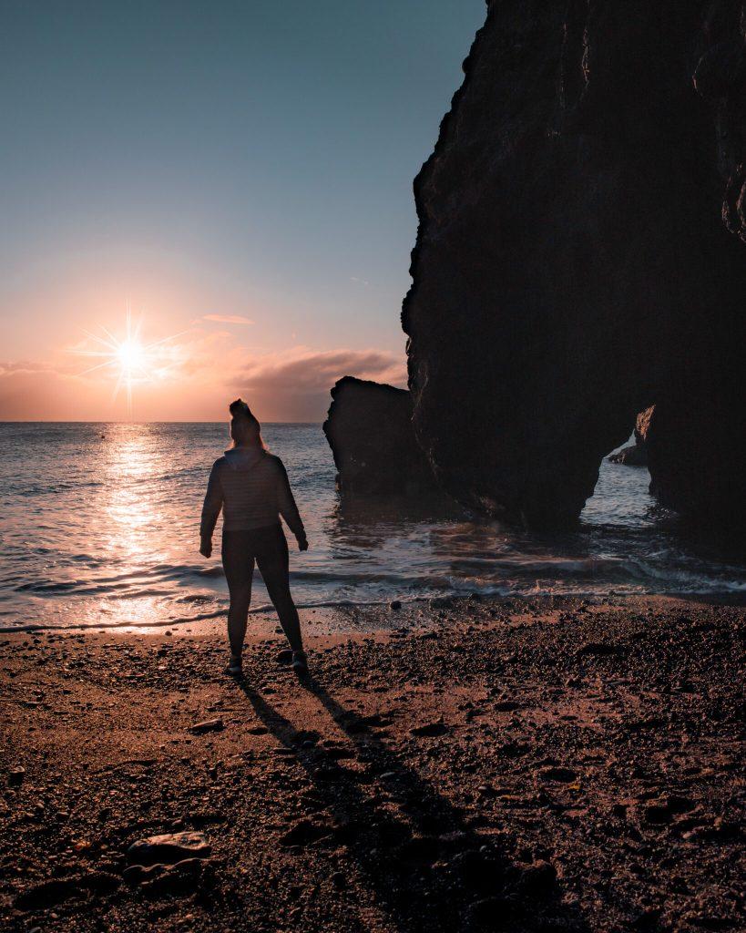 Sunrise at Tower Bay Beach, Portrane, Dublin Ireland
