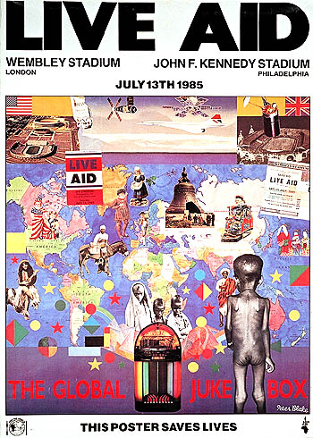 Live Aid July 13th 1985  Poster for the concert in