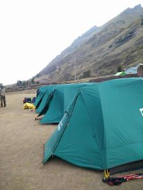 tents set up at the campsite