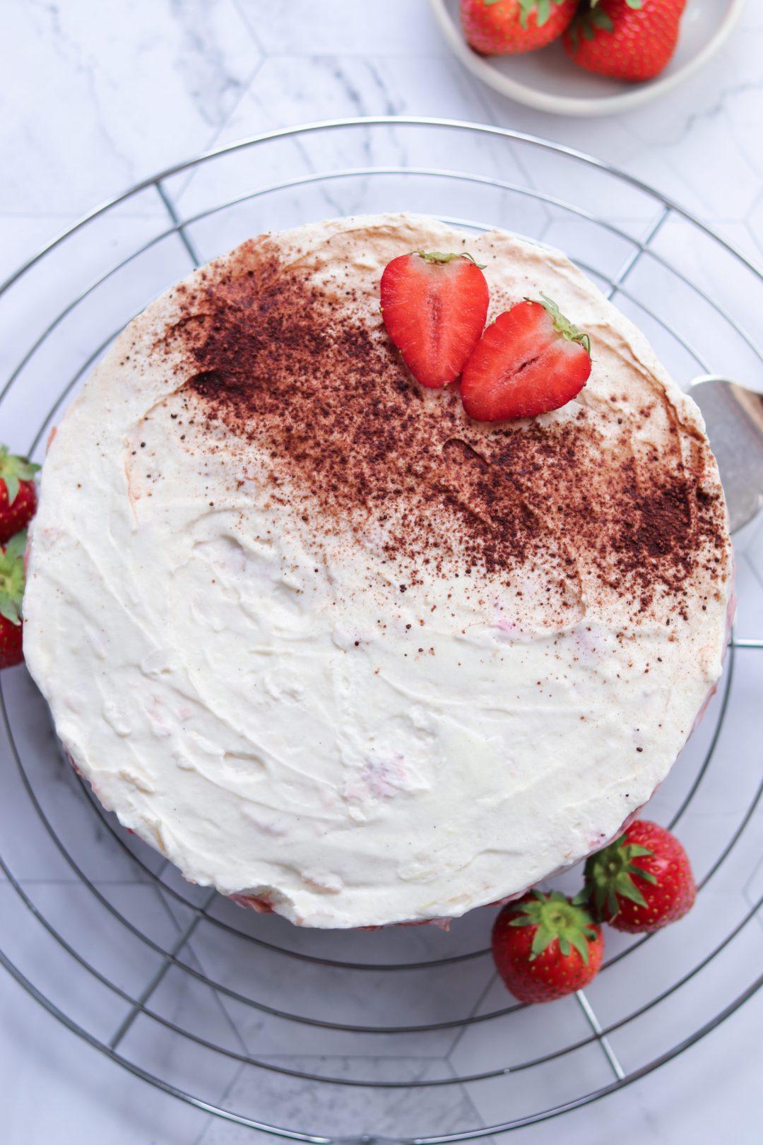 No bake Schoko Crossie Torte mit Kompott 1