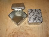 Two Metal Square Boxes $5.00 plus shipping