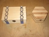 Box on left with hinged lid. $3.00 plus shipping