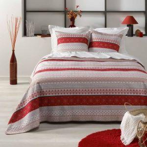 Bedsprei Douceur D'interieur, rood/wit