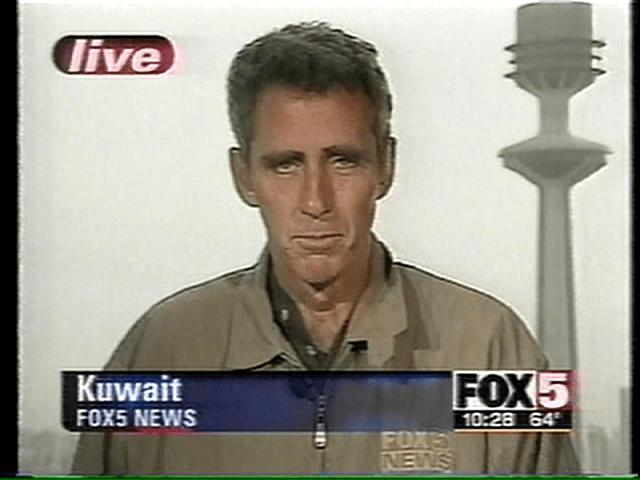 Missile attack live shot, March 28 2003