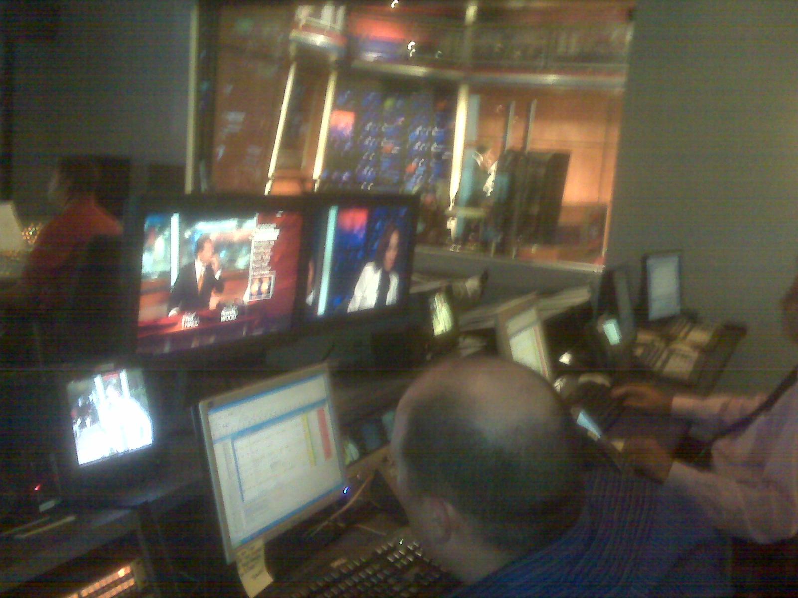 WXIA control room, 8.10.09, 5:58pm