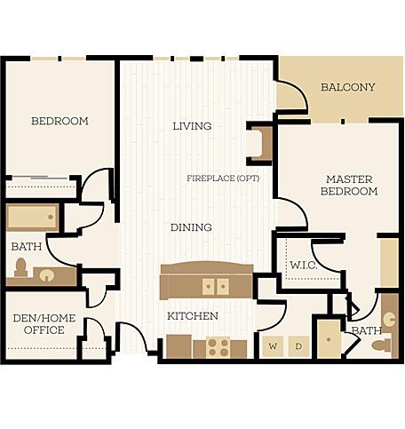 2 Bedroom Apartment Floor Plans  Chelsea at Juanita Village  Studio 1  2 Bedroom Apartments