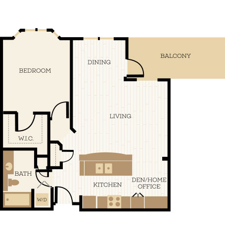 1 Bedroom Apartment Floor Plans  Chelsea at Juanita