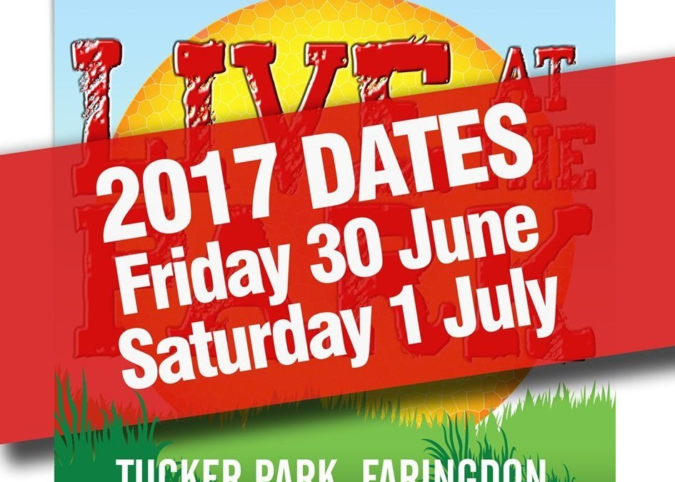 Dates for Live at the Park 2017