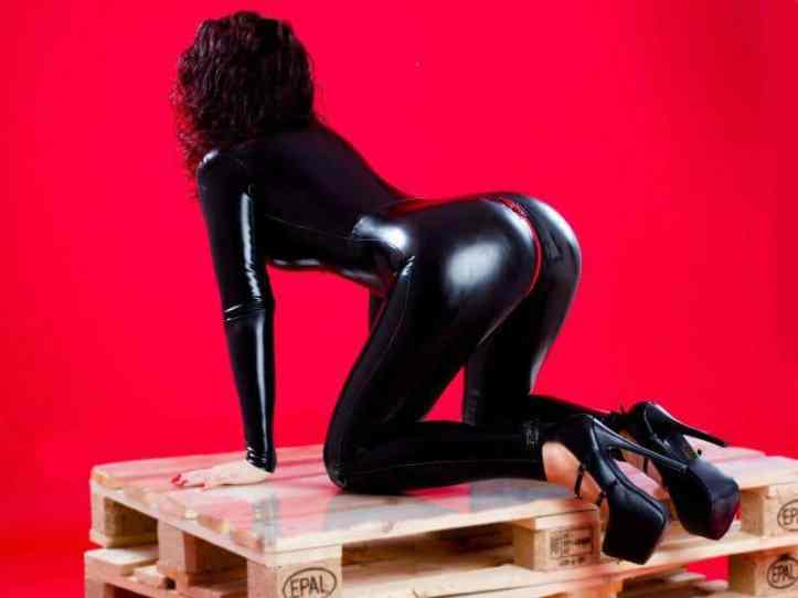 shiny ass in latex