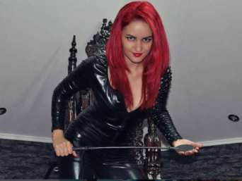 mistress wearing catsuit, mistress in pvc