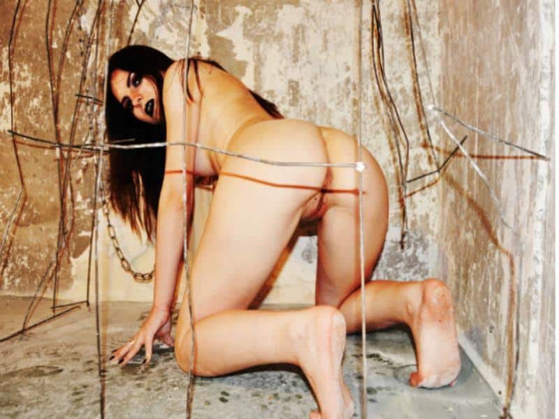 Naked girl trapped for bdsm