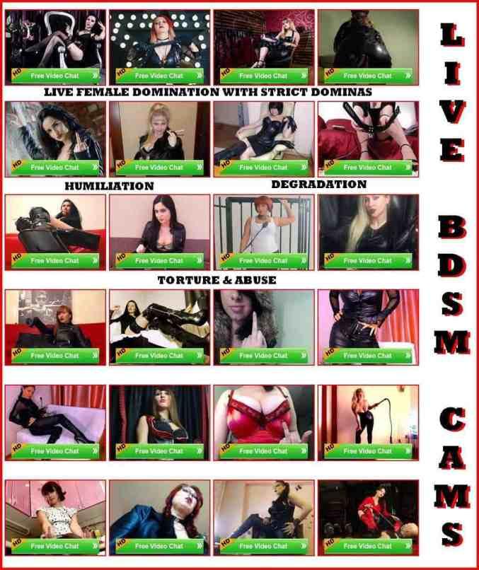 domination cams, cruel bdsm cams, live domination