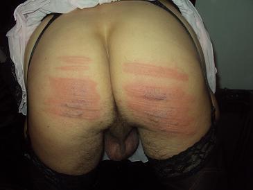 spanked sissy girl