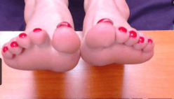 painted red toes
