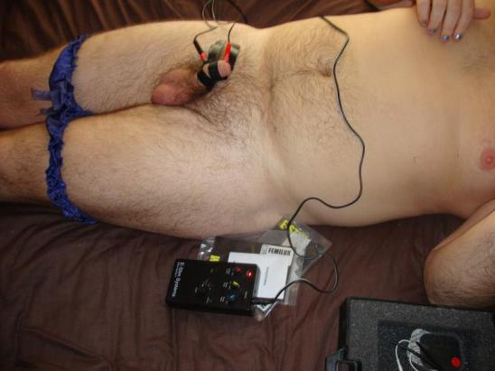 cock and ball torture, tens machine