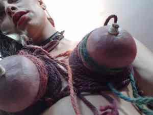 tie her tits up, tit bondage