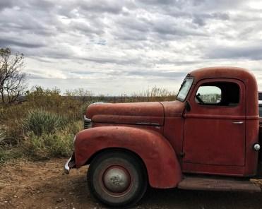 Vintage truck at Coronado Heights Park.