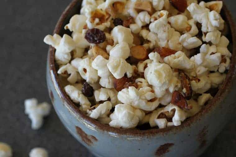 LiveBest Popcorn   I like this recipe because each bite is delicious & different! Almonds, walnuts, coconut, dried apricots, raisins and cayenne. Let's get to popping! www.LiveBest.info