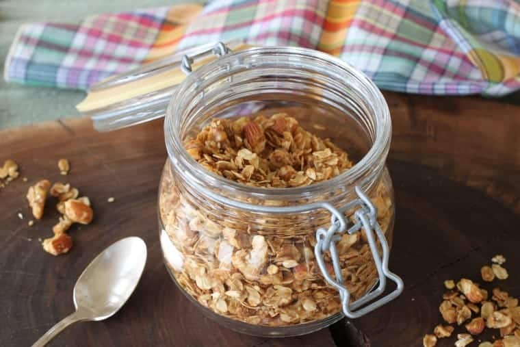 Ginger Orange Granola | Of all the granola combos, THIS is my fave! www.LiveBest.info