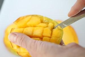 flipping a mango