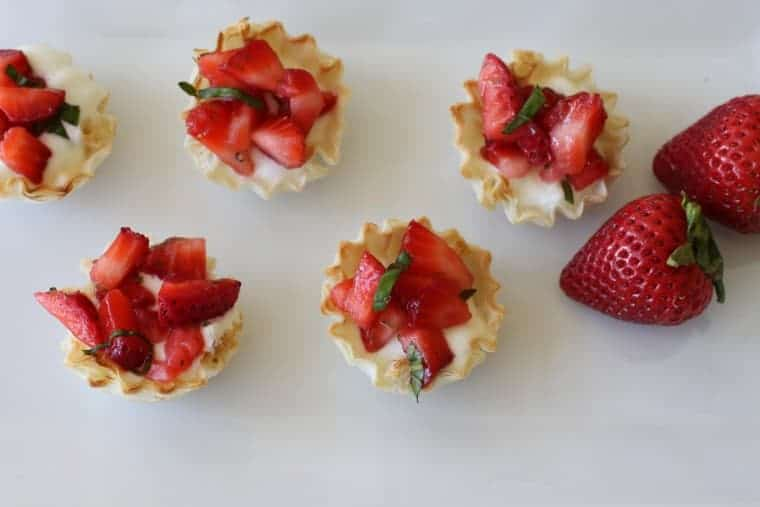 Strawberry Basil Tarts | These cool bites are the dessert you've been looking for. Easy and elegant! www.LiveBest.info