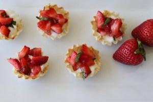 Strawberry Basil Yogurt Tarts
