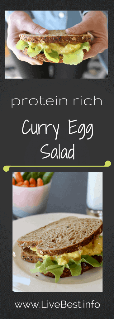 Curry Egg Salad | Curry Egg Salad Recipe | Plain Greek yogurt's tangy flavor, protein and calcium make this a healthy winner, while lowering the calories! That's what I look for in a recipe that helps me LiveBest! www.LiveBest.info www.LiveBest.info
