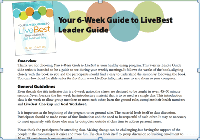 Your 6-Week Leader Guide and slides (accompanies book) FREE