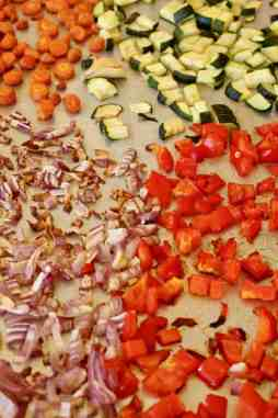 Roasted Vegetables on sheet pan
