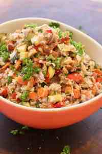 Roasted Vegetable Bulgur Salad   Use the vegetables you have on hand to create a protein- and fiber-filled scrumptious salad. A LiveBest favorite! www.LiveBest.info