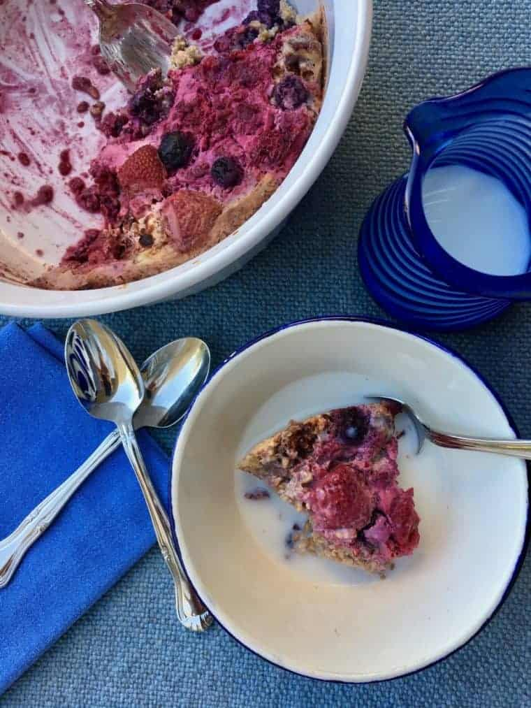 Berry Cardamom Baked Oatmeal   An easy recipe filled with good-for you oats, walnuts, fruit and spices. A LiveBest favorite! www.LiveBest.info