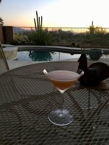 Grapefruit Martini on patio