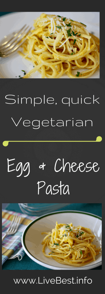 Repurpose leftover pasta with eggs and cheese. Delish, nutrish, economical. You may start making extra pasta for this protein-rich egg and cheese pasta. www.LiveBest.info