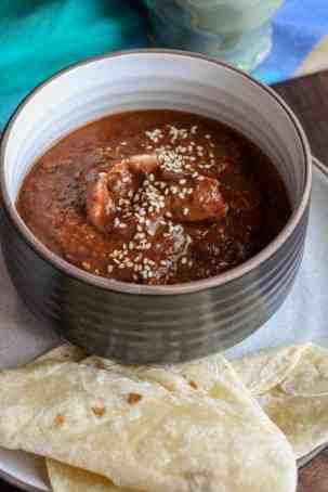 bowl of Chicken Mole