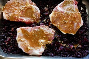 maple syrup, mustard, lemon, horseradish and rosemary marinade for Blueberry Pork Chop. www.LiveBest.info