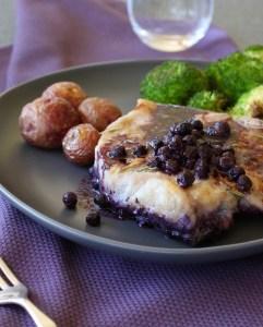 Baked Blueberry Pork Chops
