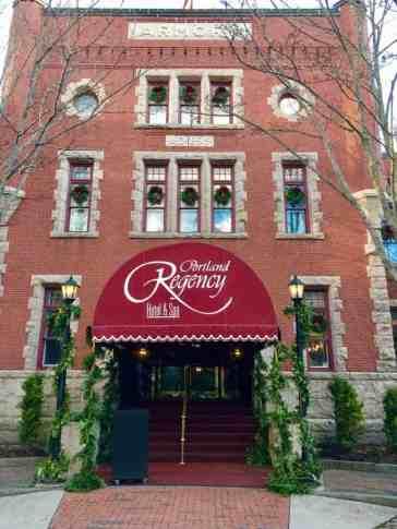 Portland Regency Hotel front entrance