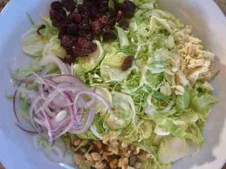 image of brussels sprouts salad ingredients