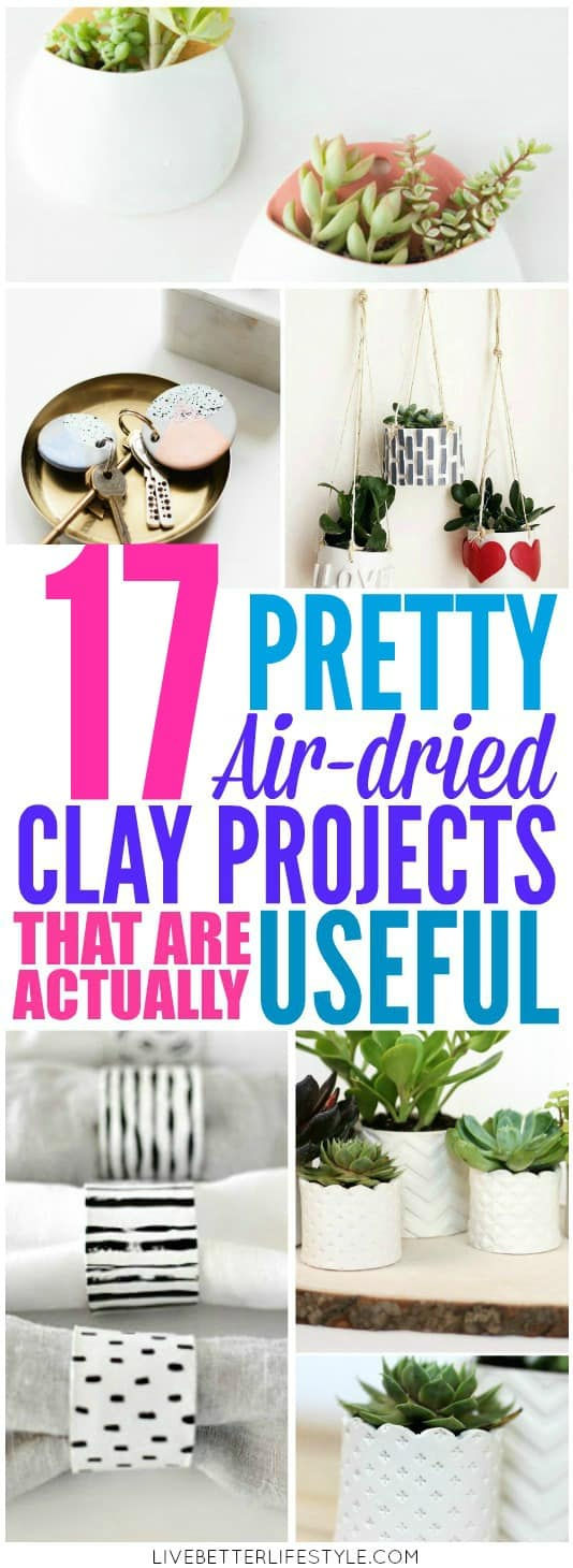 Easy Air-dried Clay Projects