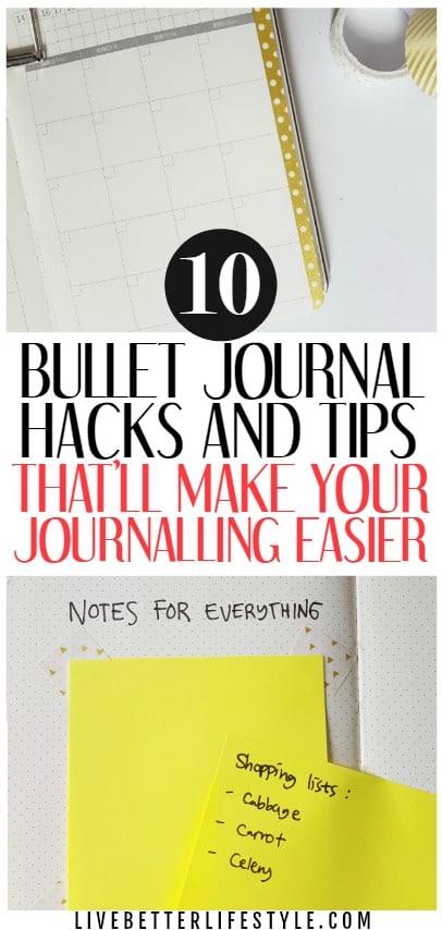 Bullet Journal Hacks