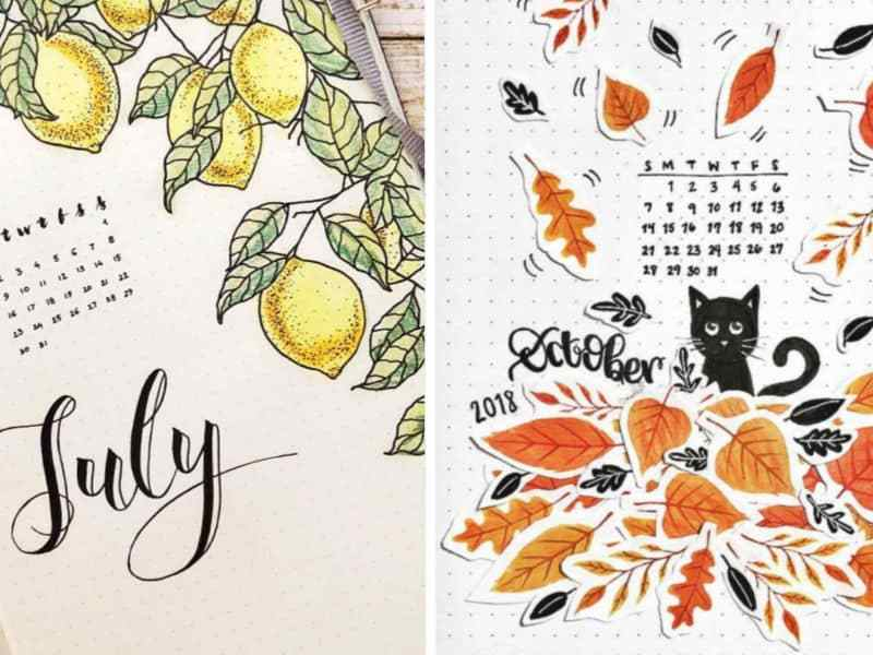 Gorgeous Bullet Journal Calendar Ideas You'll Love