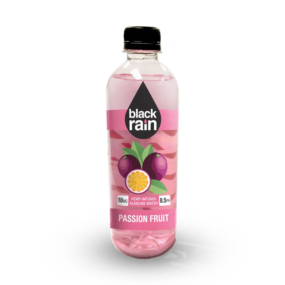 Black Rain CBD Infused Alkaline Water Passion Fruit