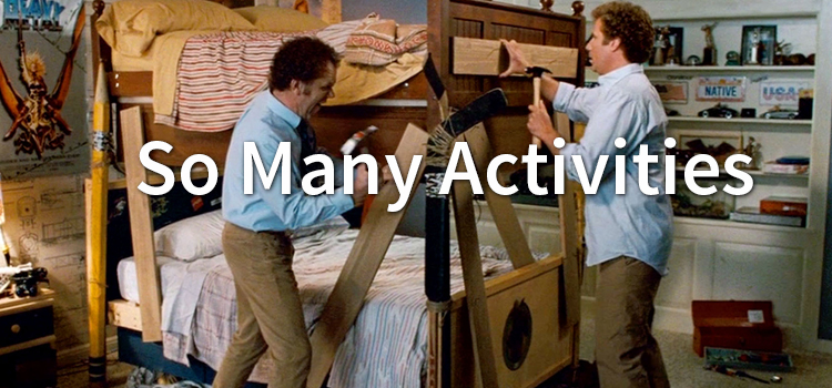 Family Camping, picture of step brothers bunk bed scene