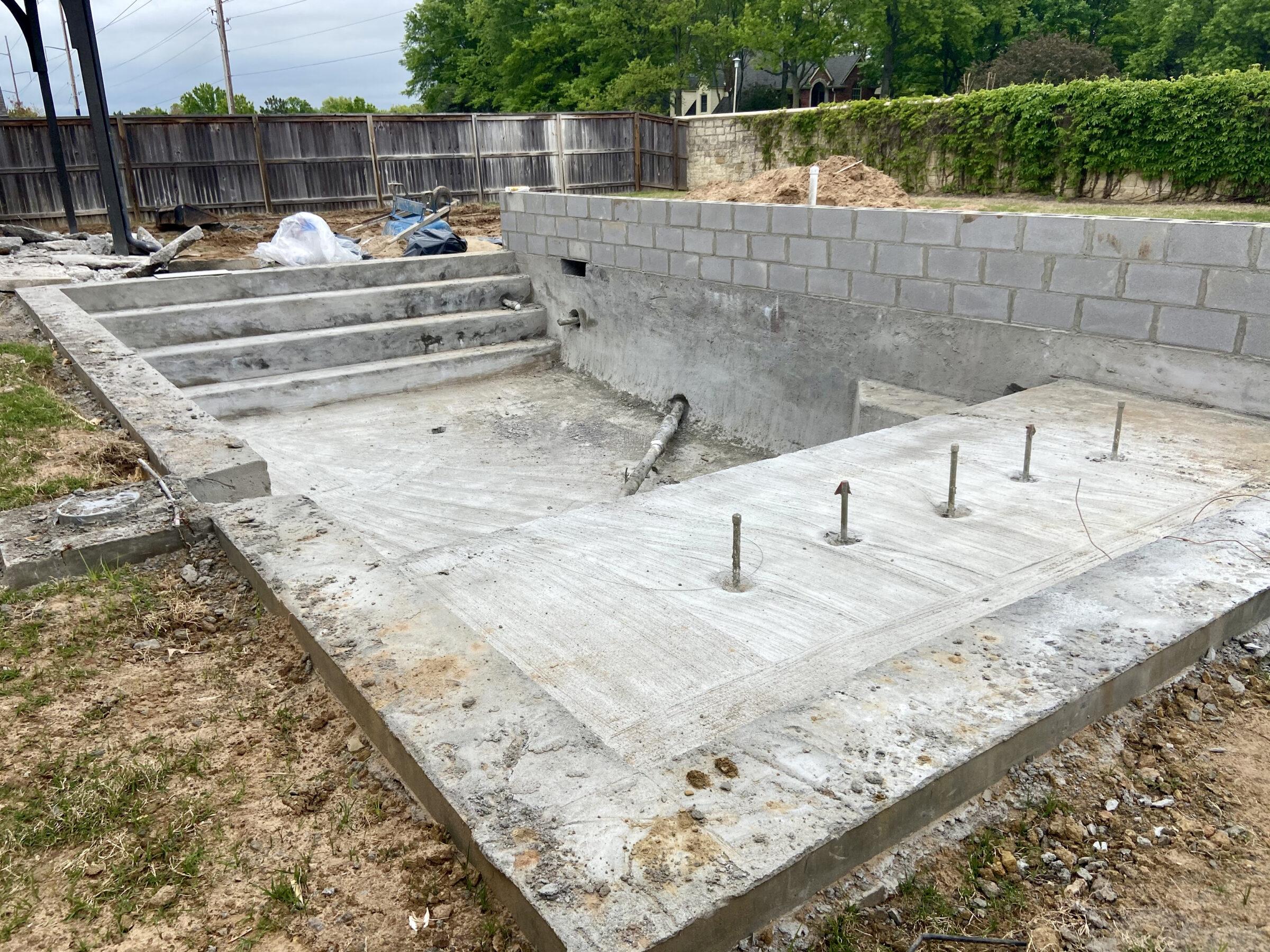 2021 04 South Tulsa Custom Gunite Pool Deck Outdoor Kitchen 9F342A526A4C